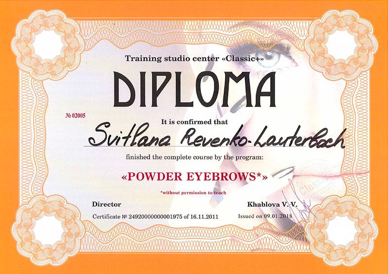 "Electra Permanent Make Up Bremen Training Studio Center ""Classic"" Zertifikat"