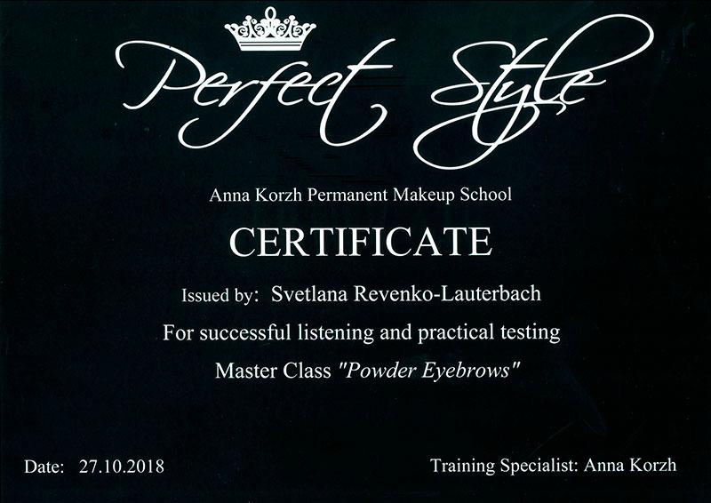 Electra Permanent Make Up Bremen Perfekt Style Zertifikat
